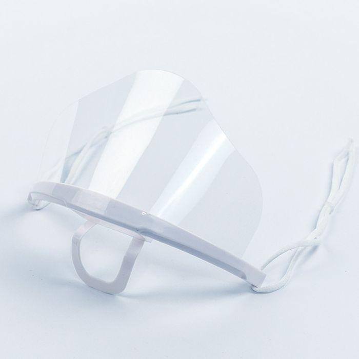 masque transparent menton